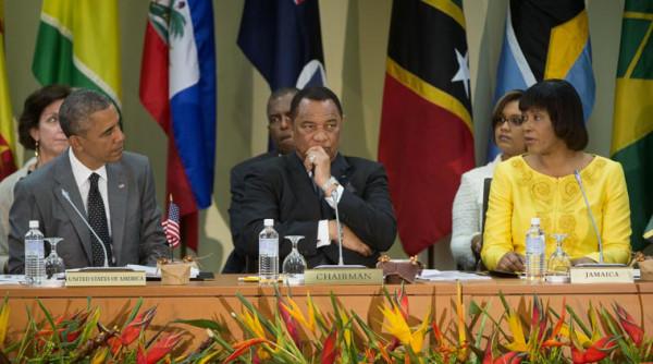 Barack Obama, Portia Simpson-Miller, Perry G. Christie