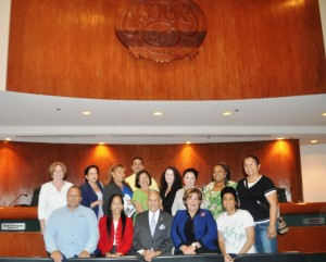 Federal, State, City and community stakeholders at the 2015 Earth Day Awareness Tour at Apopka City Hall Council Chamber