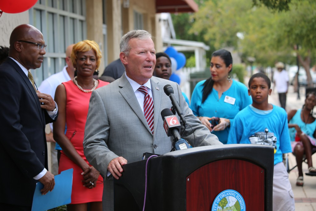 Orlando Mayor Buddy Dyer says City on track to revitalize Parramore community with new businesses. photo by Willie David Florida National News