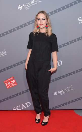 "Courtesy SCAD: Actress Saoirse Ronan attends An Evening With Saoirse Ronan and ""Brooklyn"" screening during 18th Annual Savannah Film Festival Presented by SCAD at Trustees Theater on October 25, 2015 in Savannah, Georgia. (Photo by Michael Loccisano/Getty Images for SCAD)"