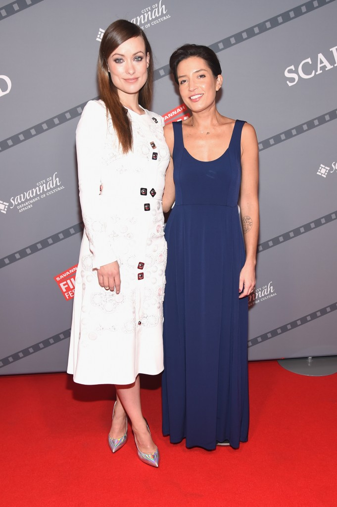 "SAVANNAH, GA - OCTOBER 24: (L-R) Honoree Olivia Wilde and Cinematographer Reed Morano attend the opening night screening of ""Suffragette"" during 18th Annual Savannah Film Festival Presented by SCAD at Trustees Theater on October 24, 2015 in Savannah, Georgia. (Photo by Michael Loccisano/Getty Images for SCAD)"