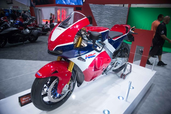 Honda's newest bike at AIMExpo 2015. Photo: J. Willie David III/Florida National News