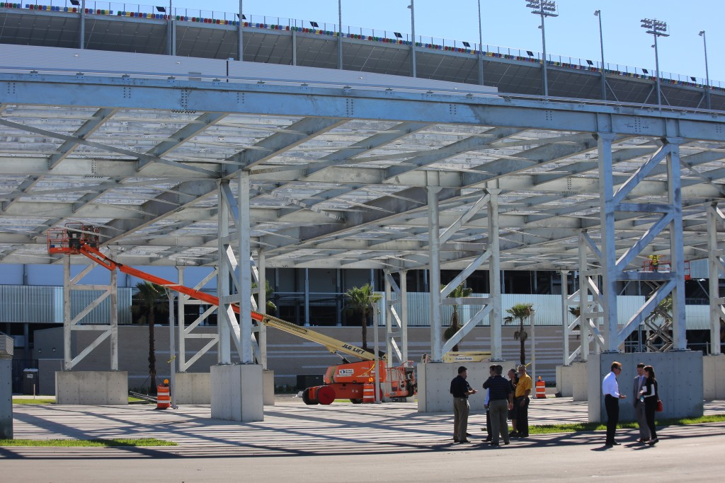 The FPL Solar Pavilion, part of the FPL Solar Circuit at the Daytona International Speedway. Photo: J. Willie David III/Florida National News.