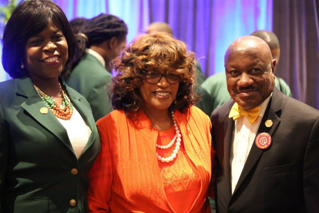 (l-r) Florida A&M University President Dr. Elmira Mangum, Congresswoman Corrine Brown (a FAMU graduate), and Bethune-Cookman University President Dr. Edison Jackson. Photo: J. Willie David III/Florida National News.