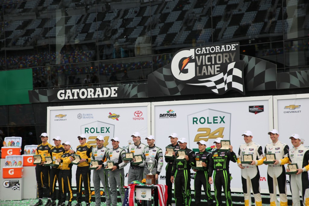 In addition to the Prototype class, three other classes competed in the Rolex 24, Sunday, January 31, 2016. Photo by J Willie David, III / Florida National, FNN News, FNN Sports