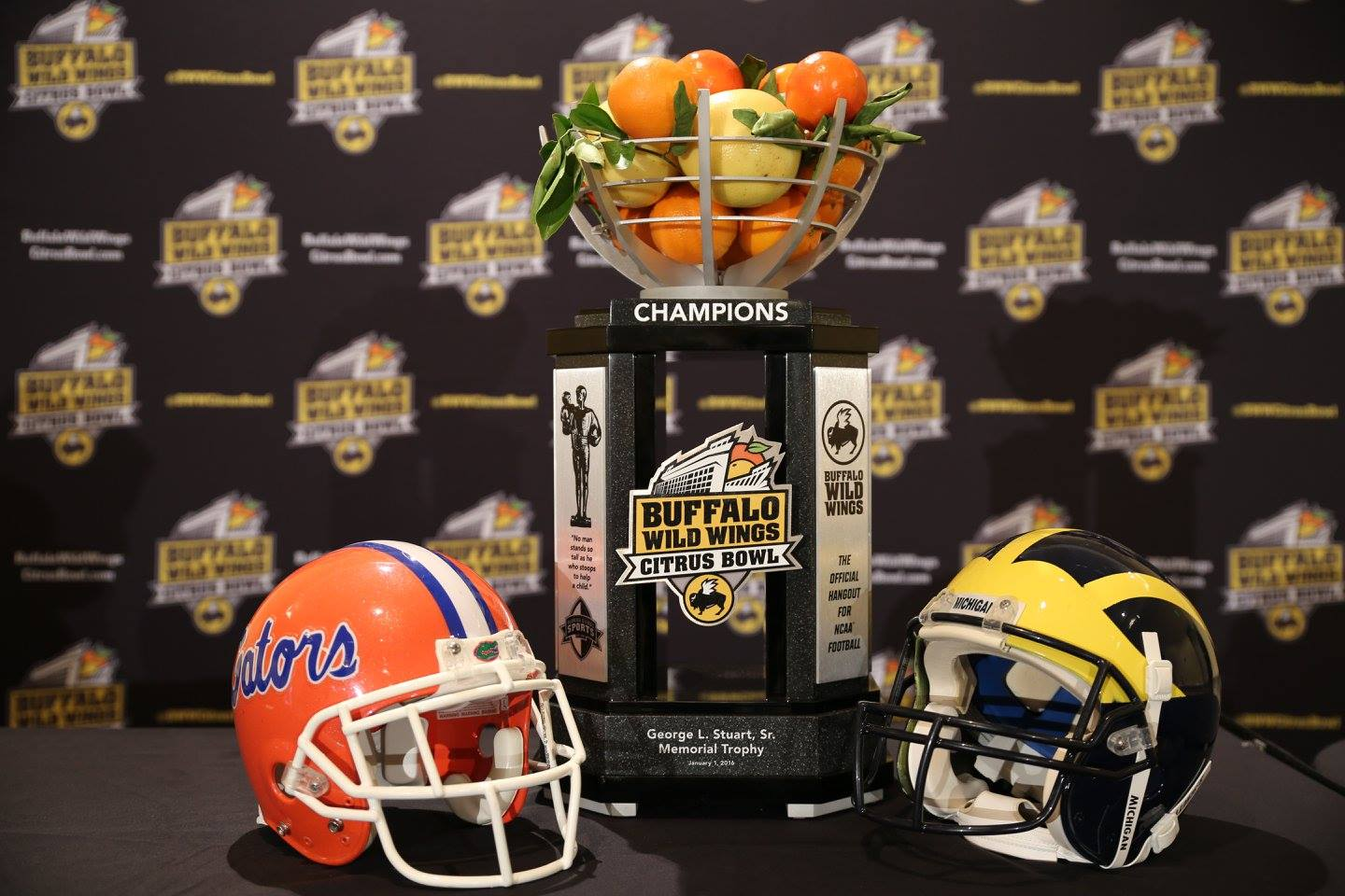 BUFFALO WILD WINGS CITRUS BOWL: University of Florida and University of Michigan fought for the trophy at Orlando Citrus Bowl January 1, 2016. Photo: Mellissa Thomas/Florida National News.