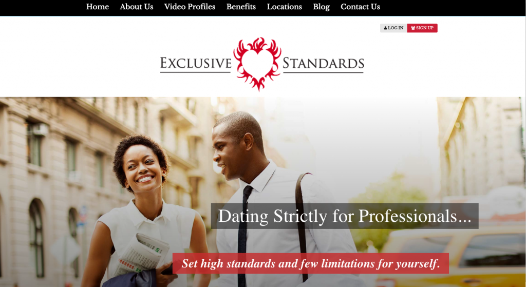 ExclusiveStandards.com welcomes single professional men up to the age of 55 as well. Image: ExclusiveStandards.com.
