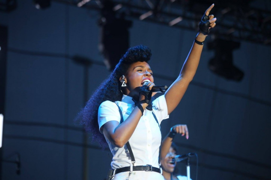 Janelle Monae brings the house down at Jazz in the Gardens Sunday. Photo: Mellissa Thomas/Florida National News.