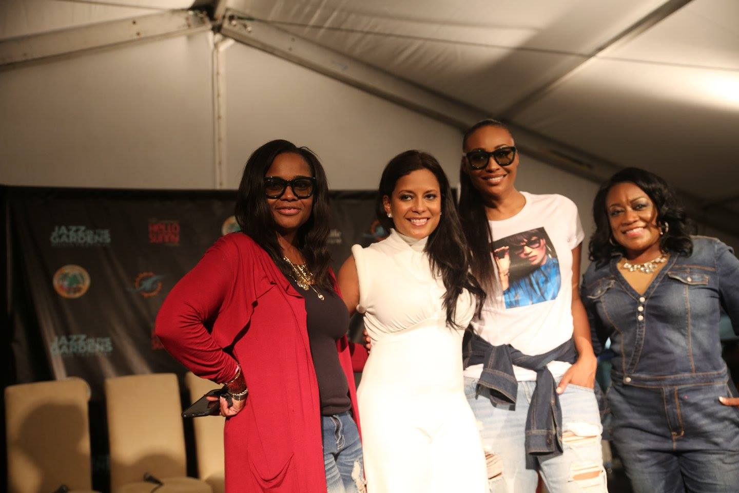 ENTERTAINMENT: Miami Gardens, Fla. - Women's Impact Luncheon Speakers Dr. Heavenly Kimes, Lisa Nicole Cloud, Cynthia Bailey, and Dee Thompson at Jazz in the Gardens 2016. Photo: Mellissa Thomas/Florida National News.