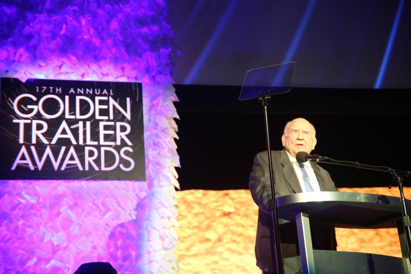 ENTERTAINMENT: Ed Asner presents the Best in Show award at the 17th Annual Golden Trailer Awards. Photo: J. Willie David III/Florida National News.