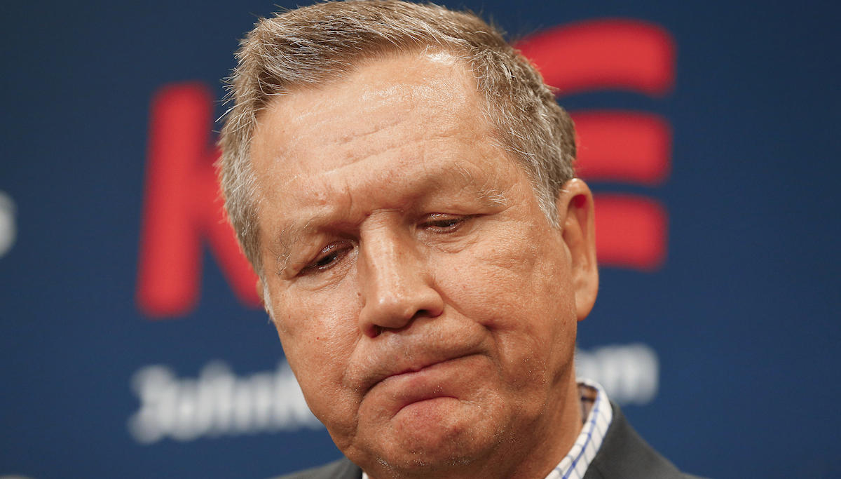 ELECTION 2016: Ohio Governor John Kasich ends his presidential campaign. Photo: AP.