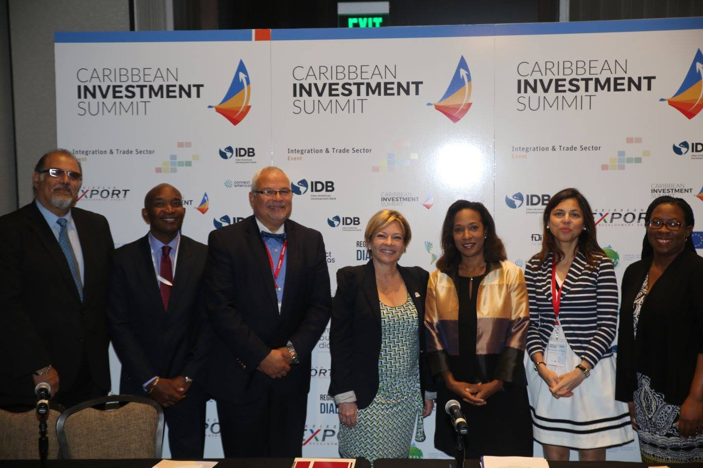 MIAMI, Fla. (FNN NEWS): Caribbean Export Development Agency and Latin Chamber of Commerce (CAMACOL) Sign MOU to increase investment in the Caribbean. Photo: Mellissa Thomas/Florida National News.