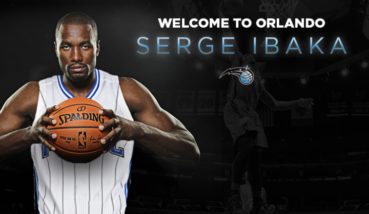 Image result for ORLANDO MAGIC UNVEILS SERGE IBAKA