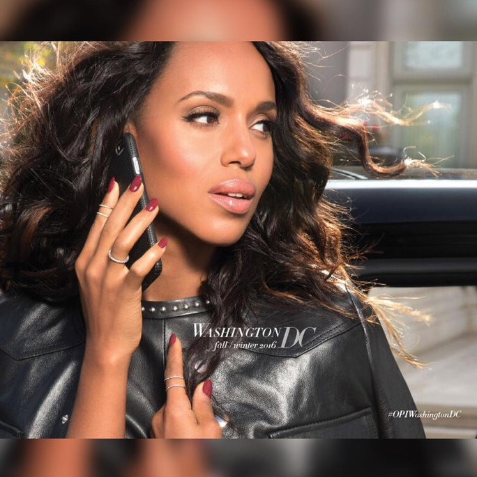 LONDON (FNN NEWS) -- Kerry Washington teams up with OPI to launch nail polish line. Image: InStyle.