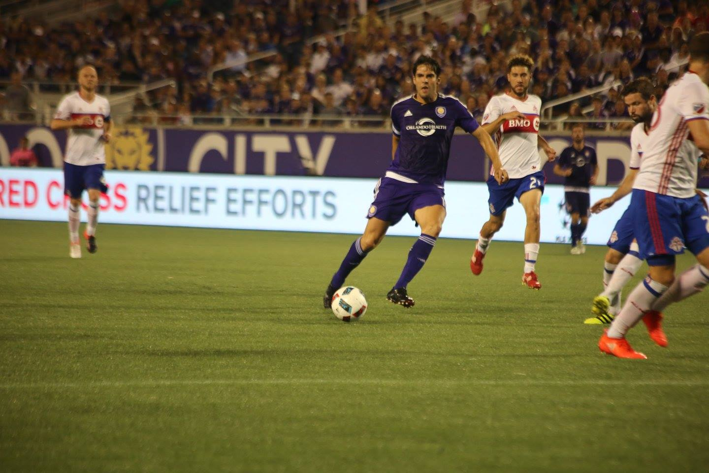 ORLANDO (FNN SPORTS) - The Orlando City Lions fall to Toronto FC at Camping World Stadium Wednesday night. Photo: J. Willie David/Florida National News.