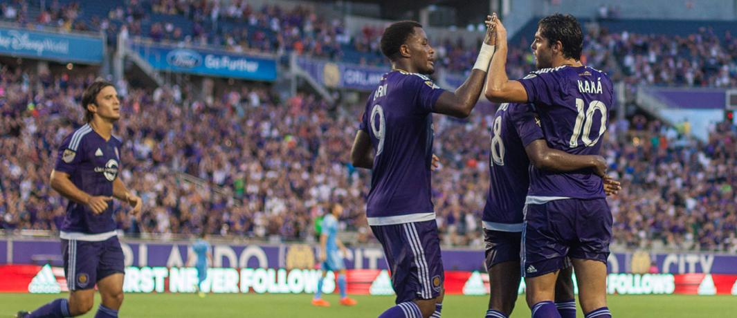 ORLANDO (FNN SPORTS) - Orlando City conquered New York City FC 2-1 in their stormy grudge match Sunday. Photo: Orlando City SC.