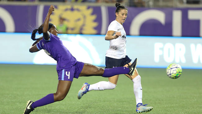 ORLANDO (FNN SPORTS) - The Orlando Pride faced an uphill battle against the Washington Spirit Friday. Photo: Orlando Sentinel.