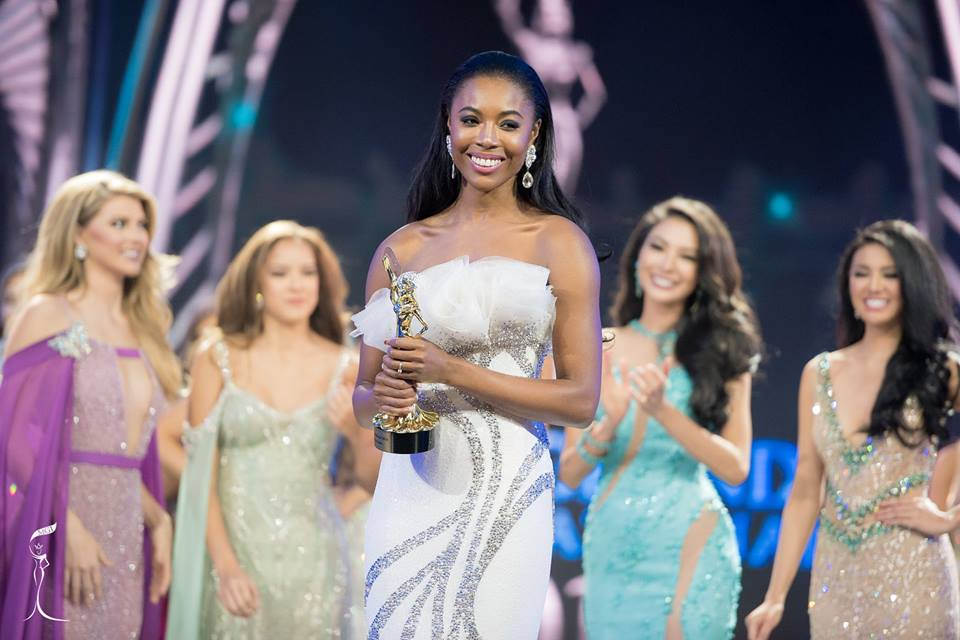 Miss England Cherelle Rose Patterson wins Best Evening Gown award