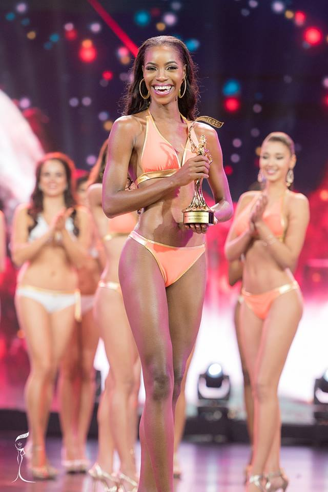 Miss Bahamas Selvinique Wright wins Best Swimsuit award