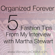 Image strategist Wendy Lyn Phillips interviews Martha Stewart, the Queen of Organization.