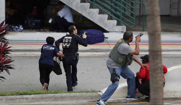 FORT LAUDERDALE: 26-year-old Esteban Santiago opened fire at Fort Lauderdale International Airport Friday afternoon, killing 5 and injuring 8. Photo: Getty Images.