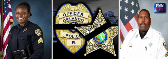 ORLANDO: Two Florida officers were killed Monday during the manhunt for Markeith Lloyd, accused of murdering pregnant mother Sade Dixon back in December. Photos: OPD/OCSO.