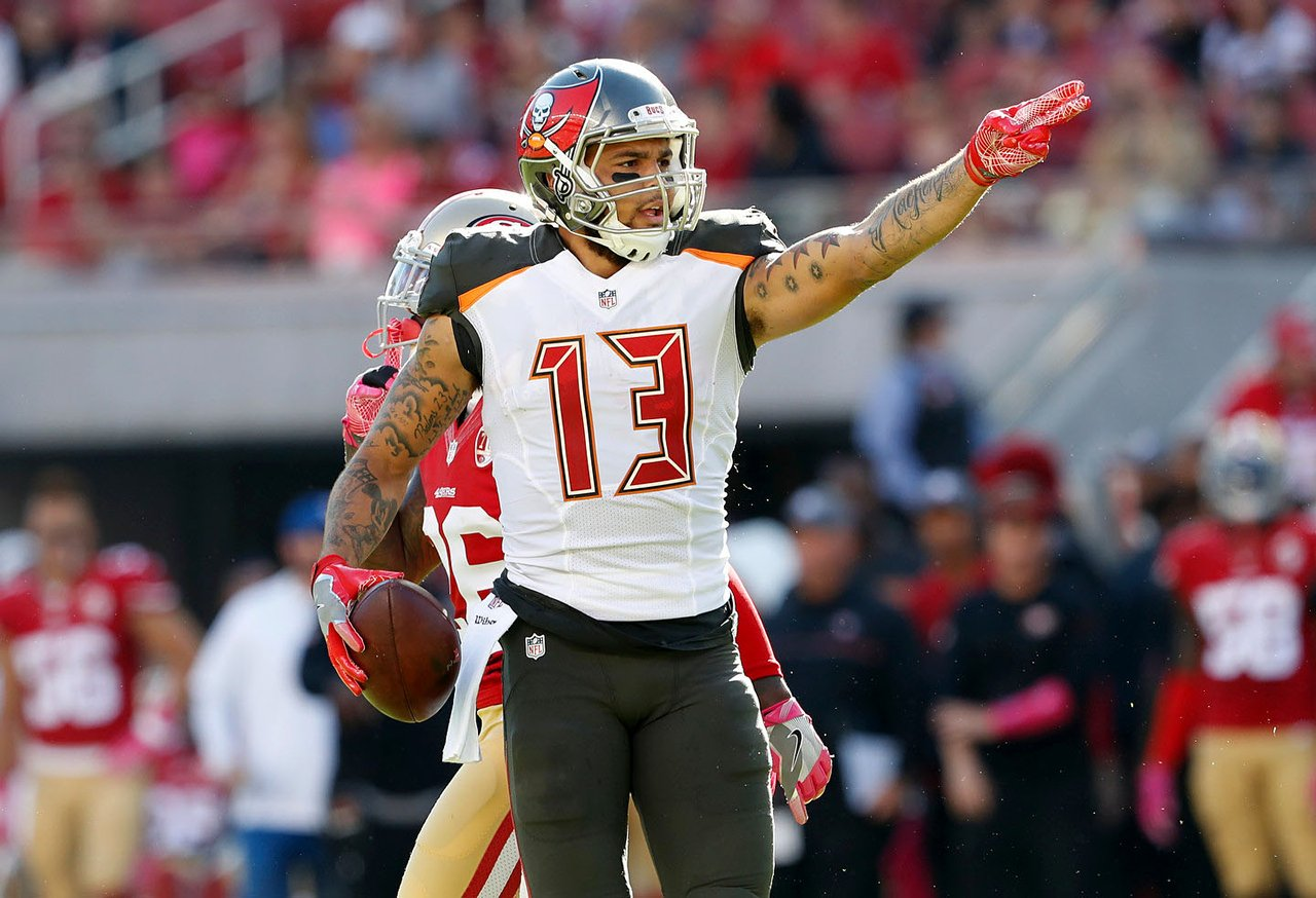 TAMPA BAY: Buccaneers wide receiver Mike Evans was voted Castrol EDGE Clutch Performer of the Week for Week 17. Photo: Tampa Bay Buccaneers.