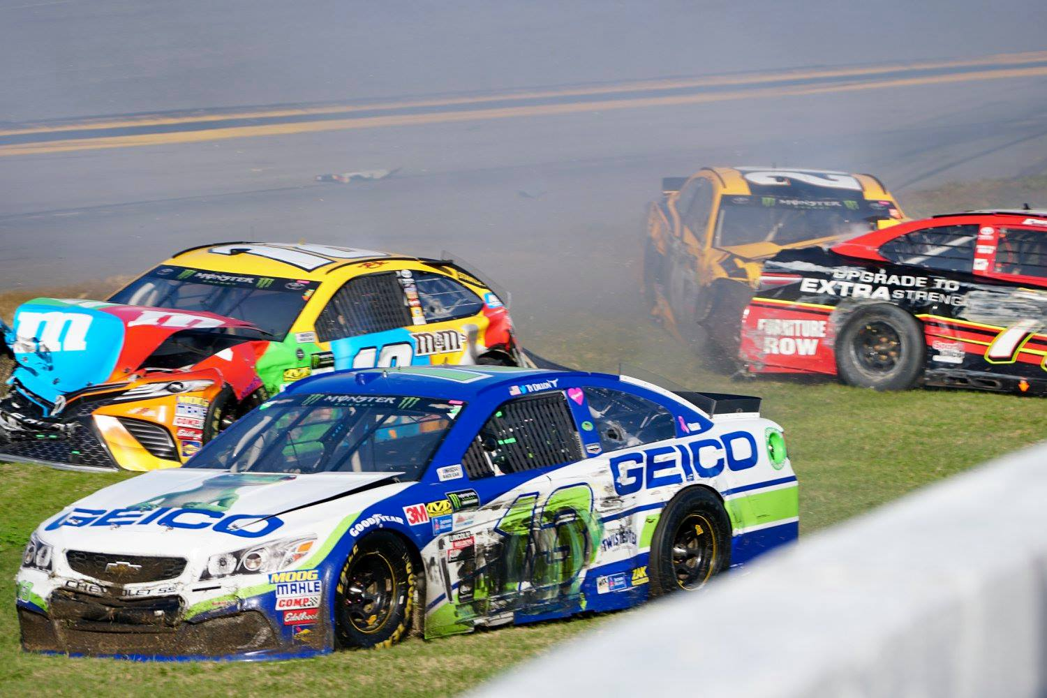 Kurt Busch Snatches Last-Lap Victory in Crash-Heavy DAYTONA 500 ...