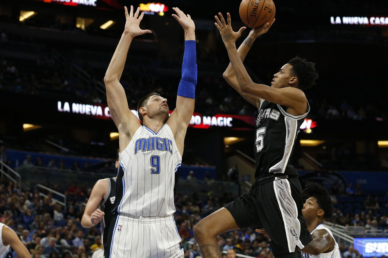ORLANDO, Fla. (FNN SPORTS) - The Spurs forced turnovers and scored voraciously to defeat the Orlando Magic 107-79 Wednesday, February 15, 2017. Photo: Kim Klement/USA TODAY Sports.