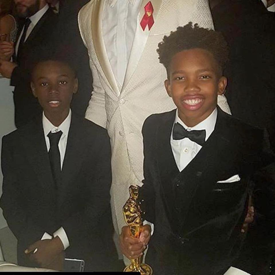 MIAMI GARDENS (FNN NEWS) - Oscar-winning 'Moonlight' child stars Alex Hibbert (left), Jaden Piner (right), and their teacher Tanisha Cidel will receive the Keys to the City of Miami Gardens during Jazz In The Gardens Music Festival Sunday, March 19, 2017. Photo: The Immanuel Temple/Facebook.