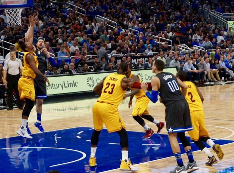 ORLANDO (FNN SPORTS) - LeBron James and the Cavaliers brought a strong defense to slow the Magic down at Amway Center Saturday. Photo: William Roebuck/Florida National News.