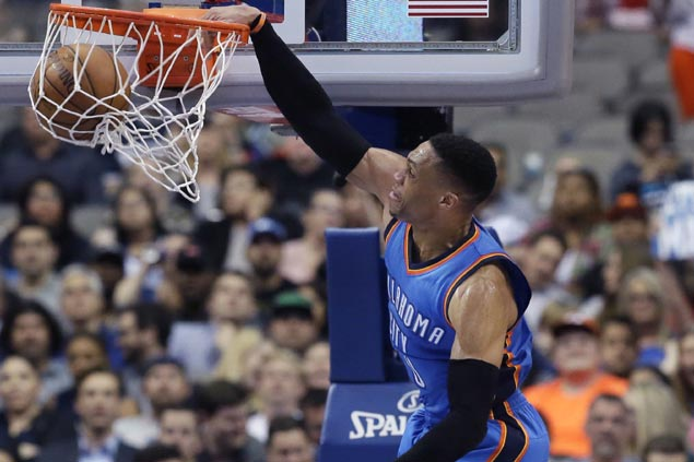 ORLANDO (FNN SPORTS) - OKC's Russell Westbrook rose to the challenge against the Orlando Magic in overtime Wednesday at Amway Center. Photo: NBA.