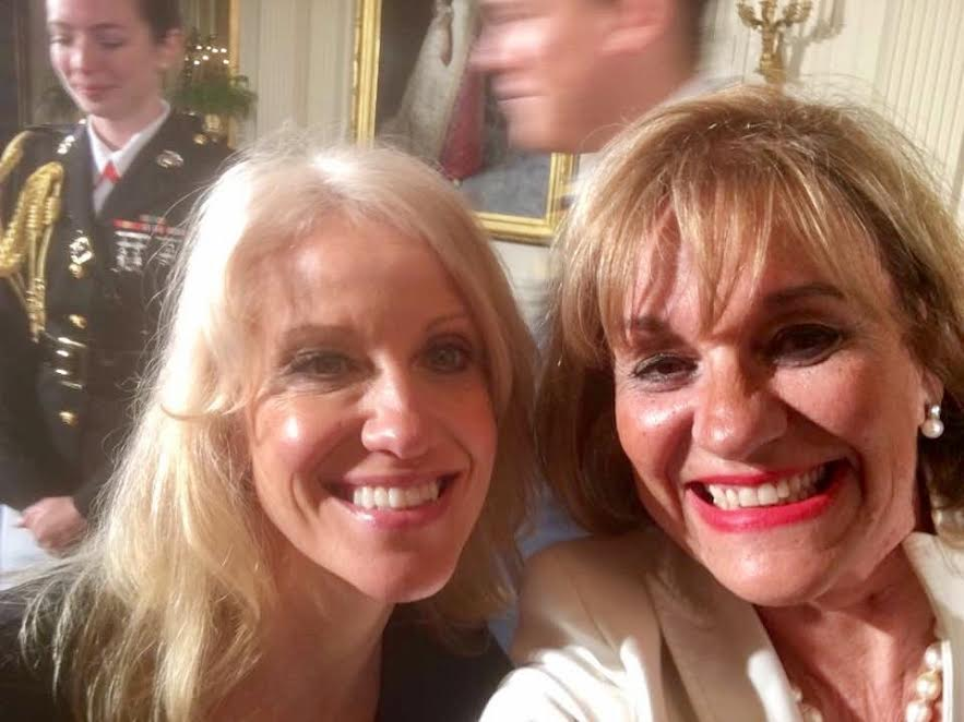 Bertica Morris and President Donald J. Trump's Counsel, Kellyanne Conway. Photo courtesy of Bertica Morris.