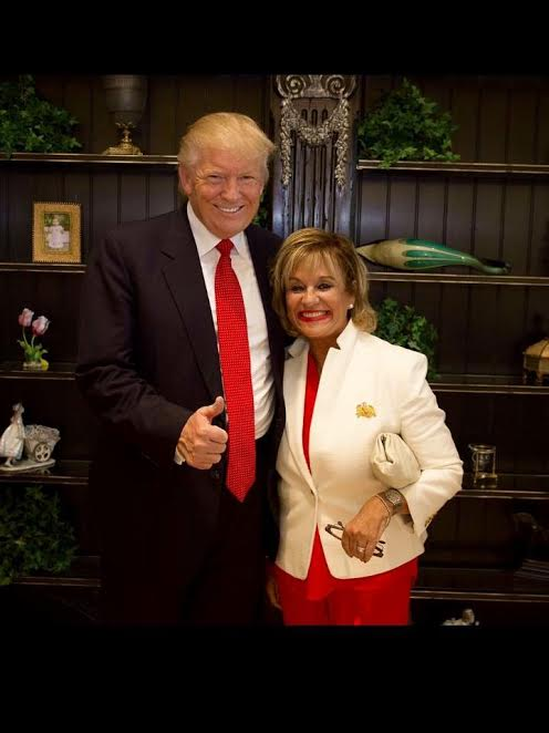 Bertica Morris with President Donald Trump. Photo courtesy of Bertica Morris.