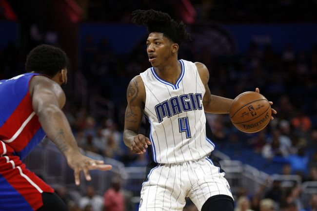 ORLANDO (FNN SPORTS) - Elfrid Payton and Aaron Gordon carried the Magic against the Detroit Pistons at Amway Center Wednesday, April 12, 2017. Photo: Kim Klement-USA TODAY Sports.