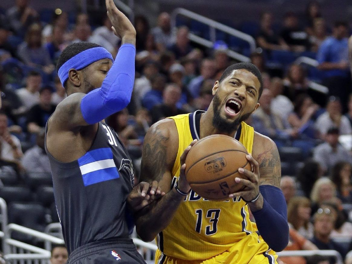 ORLANDO (FNN SPORTS) - Paul George and the Indiana Pacers played ferociously to clinch the win against the Orlando Magic at Amway Center Saturday, April 8, 2017. Photo: AP.