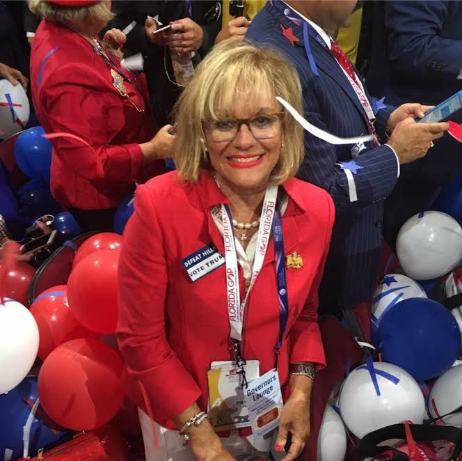 Bertica Morris at the 2016 RNC Convention. Photo courtesy of Bertica Morris.