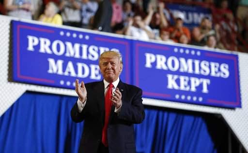 "OPINION: ""Trumpers"" all over the country are still on fire for their President, and for them, 2020 isn't far away. Photo: AP."