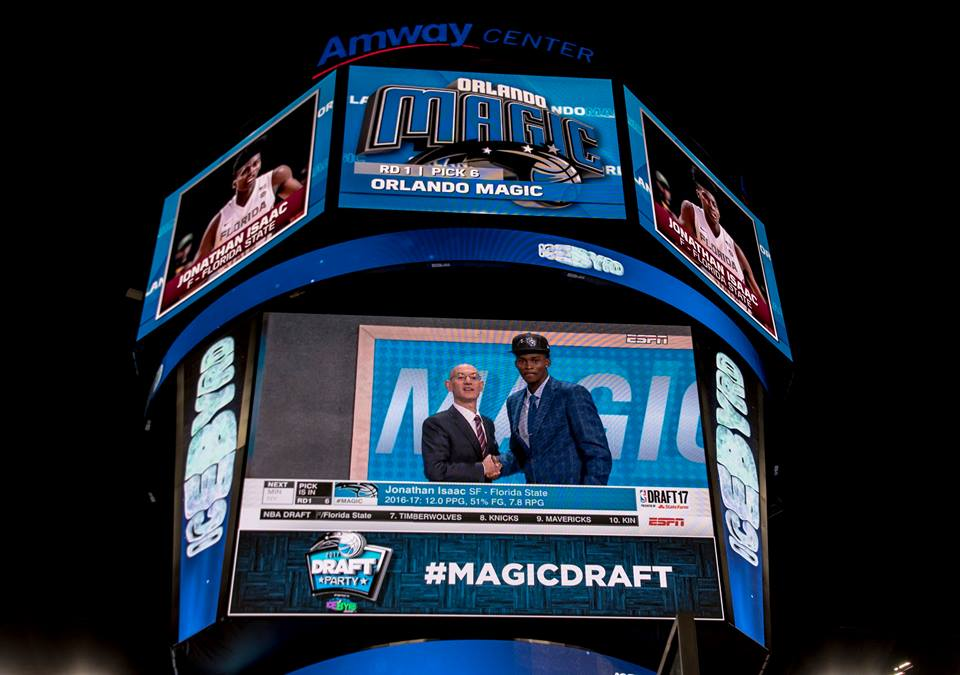 Orlando Magic selects Jonathan Isaac as its six pick in the 2017 NBA Draft. Photo by TJ Waller/Florida National News