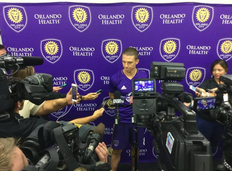 ORLANDO (FNN SPORTS) - Orlando City's Will Johnson talks to the press after a controversial 0-0 shutout against Chicago Sunday, June 4, 2017.
