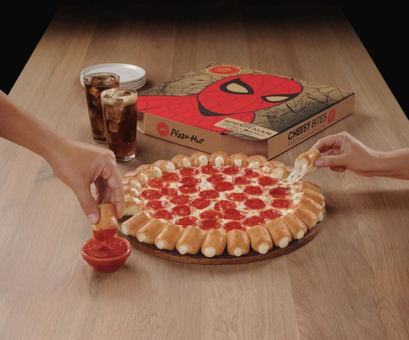 Pizza Hut Cheesy Bites Pizza And Spider Man Help Fans Swing Into