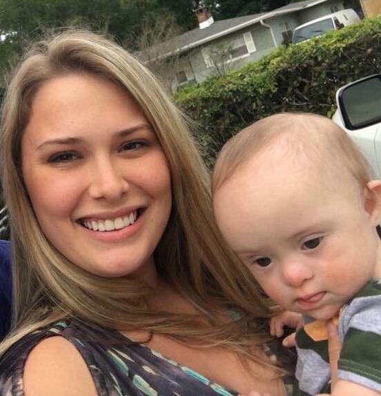 Jenny Lynn Hutnick with her son KJ. Photo: Randy Ross/Florida National News.