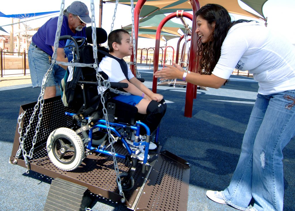 Special needs parks like Morgan's Wonderland seen here, offers playground equipment that helps special needs children play. Photo: New York Times.