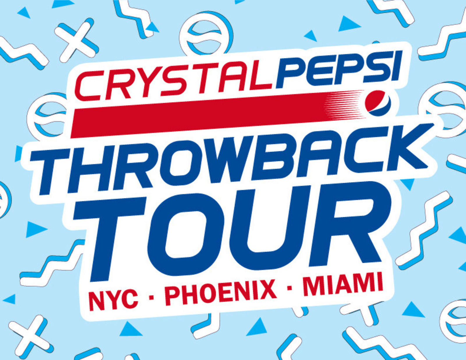 The Crystal Pepsi Throwback Tour Is A Multi City Tribute To Nostalgia Of 90s With Stops In New York Phoenix And Miami PepsiCo