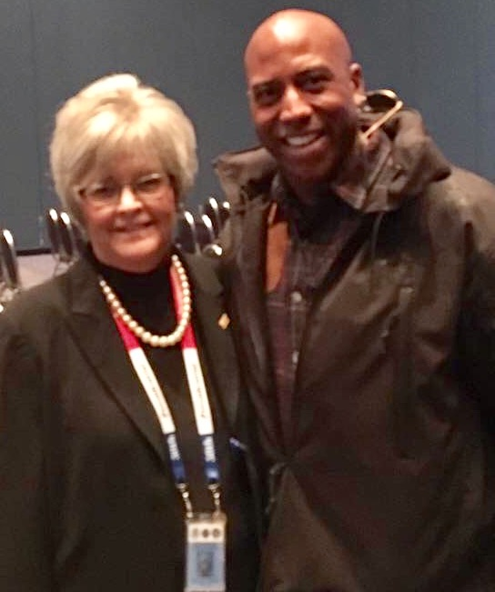 Photo courtesy of Deborah Cox Roush, pictured with Derek Hankerson.