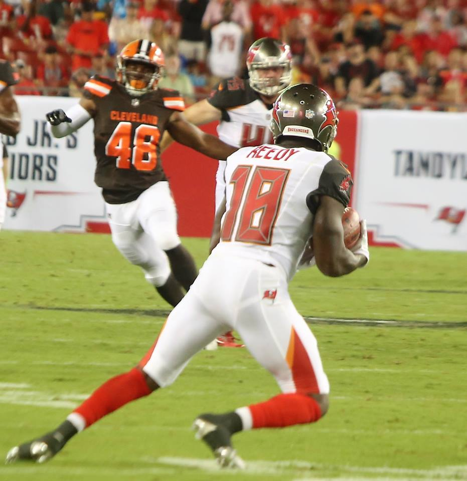 TAMPA (FNN SPORTS) - Reedy and the Tampa Bay Buccaneers had the game in the bag...until 4th quarter. Photo: J. Willie David III/Florida National News.