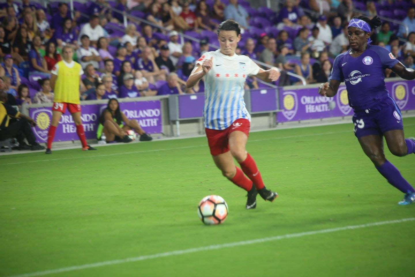 ORLANDO: The Orlando Pride and Chicago Red Stars had a heated match at Orlando City Stadium Saturday night. Photo: Willie David/Florida National News.