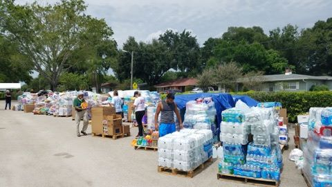 ORLANDO (FNN NEWS) - Local high school student raised thousands of dollars in money and supplies to ship from Orlando to Hurricane Harvey survivors in Texas. Photo: Randy Ross/Florida National News.