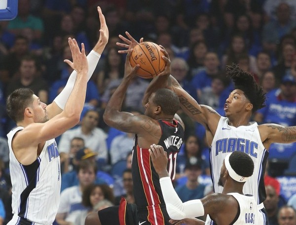 ORLANDO (FNN SPORTS) - The Orlando Magic defense galvanized to slow the Miami Heat for a fourth quarter win. Photo: HeatNation.com.