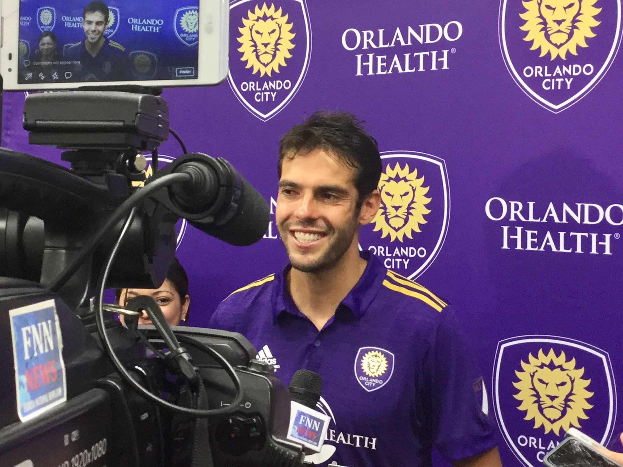 ORLANDO (FNN SPORTS) - Kaka played his final match with the Orlando City Lions as they hosted Fuerza Puerto Rico in a friendly match to raise funds to aid the island nation's recovery efforts. Photo: Mellissa Thomas/Florida National News.